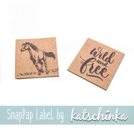 #SnapPap Label WildAnimals - Horse